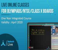 One Year Integrated Course for Olympiads, NTSE & Class X