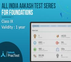 All India Aakash Test Series for Class IX (Foundation)