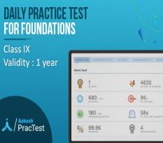 Daily Practice Test for Class IX (Foundation)