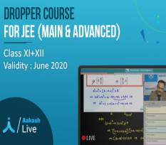 One Year Aakash Live Dropper Course for JEE Main & Advanced & Other Engineering Entrance Exams